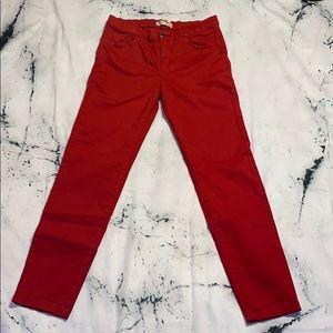 Zara Girls Red Jeans